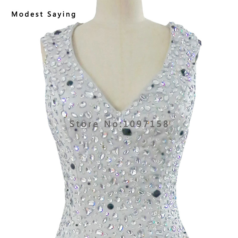 Real Photo Silver Straight Beaded Short Cocktail Dresses 2017 With Rhinestone Casual Mini Party Prom Gowns Robe De Cocktail Yc4 Weddings & Events