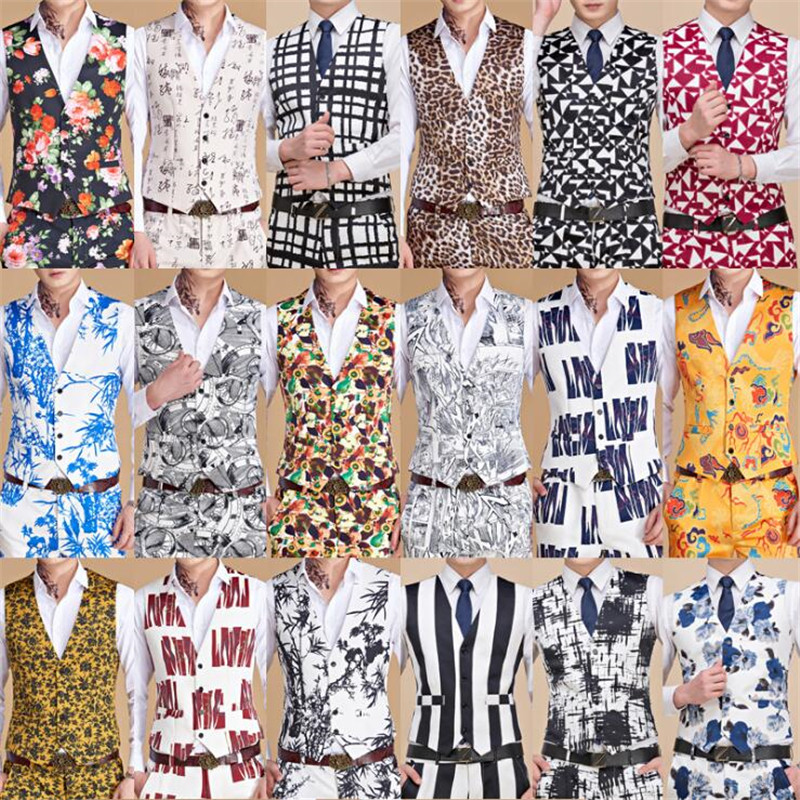Men's Classic Paisley Jacquard Waistcoat Vest Men Handkerchief Party Wedding Tie Vest Suit Set