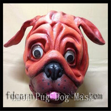 Halloween Party Cosplay pug mask animal Cartoon Style Deluxe Latex Dog Mask ,animal-like life Pug mask ,party supply in stock