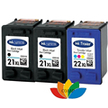 3x Compatible HP21 22 HP 21 22 Ink Cartridge For HP Deskjet F380 F2280 3910 3915 3918 3920 3930 3938 3940 D1530 D1311 D1320