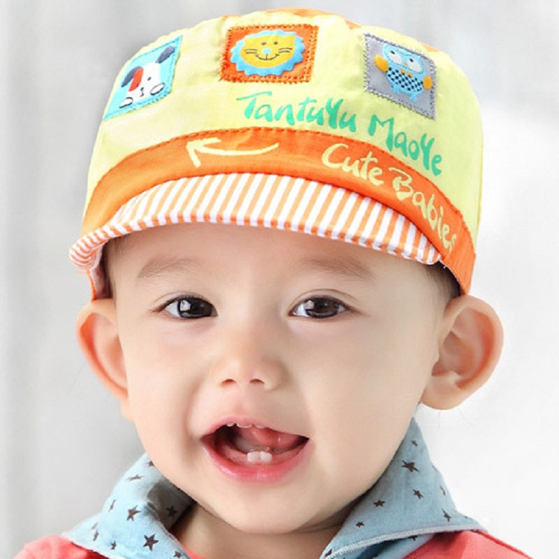 8cc51722eed Cotton Baby Hats Girls Spring Newborn Summer Hats Children s Cap Baby Flat  Hat For Girls Beautiful Korean Boy Sport Caps C803-in Hats   Caps from  Mother ...