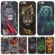 Serin hayvanlar kılıf Funda iPhone için üzerinde X Etui için iPhone XS Max 8 7 6 6 S artı 5 5 S XR yumuşak TPU kapak aslan ayı b...