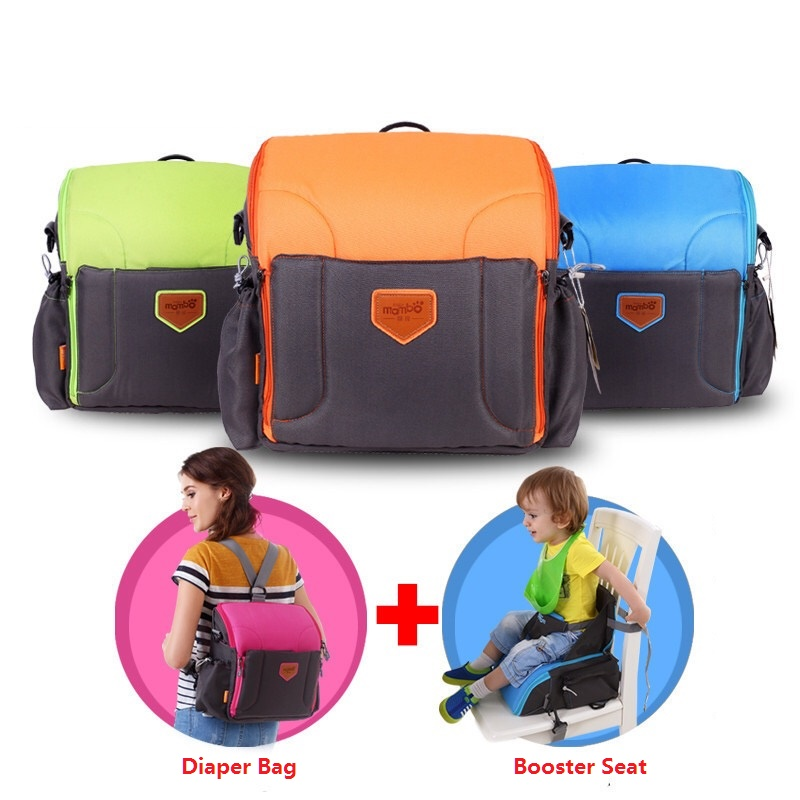 2 IN 1 Portable baby Booster Seats diaper dag for mom baby chair feeding mama sandalyesi nappy bag diaper backpack dandystyle