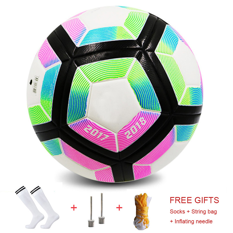 Champions Football Premier Size 5 Soccer Standard Adults League Outdoor PU Goal Match Balls Russia Top Quality Seamless Football image
