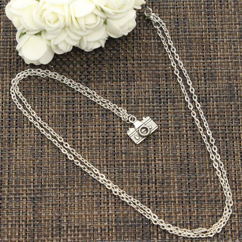 New Fashion Necklace camera 15*14mm Silver Pendants Short Long Women Men Colar Gift Jewelry Choker