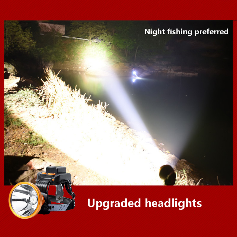 Купить с кэшбэком Headlight cree xhp70 or xhp50 lamp beads Built-in 6*18650 lithium battery Direct charging Hunting Flashlight led headlamp