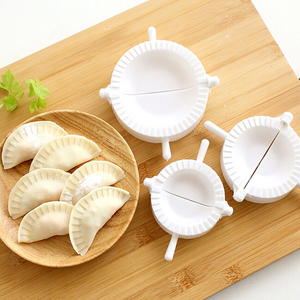 Kitchen 7CM/8CM/10CM Dumpling Molds plastic Dough Press Dumpling Pie Ravioli Mould Cooking Pastry Chinese Food Jiaozi Maker(China)