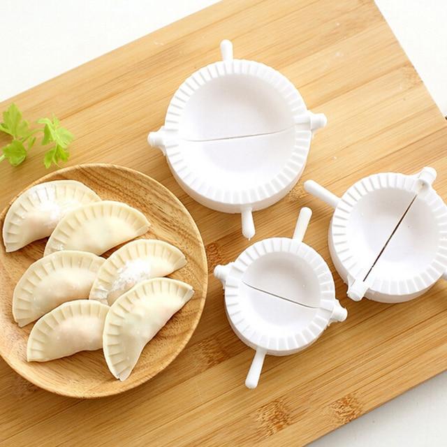 Nhà bếp 7 cm/8 cm/10 cm Bánh Bao Bánh Bao Máy Ép nhựa Dough Press Dumpling Pie Ravioli Khuôn Nấu Ăn Pastry thực Phẩm trung quốc Jiaozi Maker