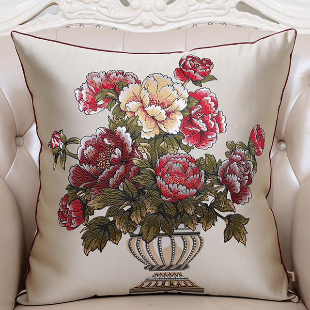 Aliexpress Buy 24 inch Fine Embroidered Cushion Pillow