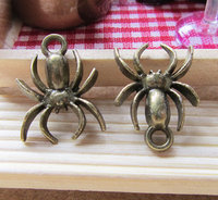 10pcs Antique Bronze Spider Insects Charms Pendants 14x18mm B308-3