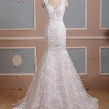 fsuzwel Dreagel Sweetheart Neck Lace Mermaid Wedding Dress