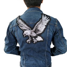 1pcs New Big eagle Embroidery lace applique paillette fabric sweater clothes patch sequined stickers t-shirt diy decoration