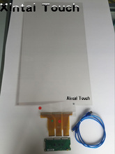 50″ Capacitive Touch Foil Film through galss shop, 4 points usb touch screen foil film Side/bottom Tail