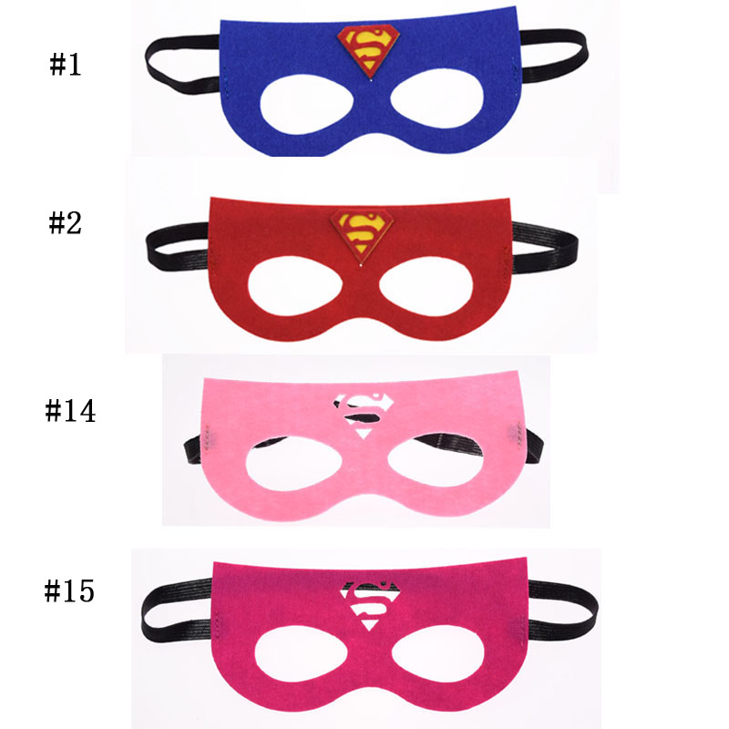 Superhero mask Cosplay Superman Batman Avengers Super Girl Princess Halloween Christmas kids Party Masquerade Costumes Masks