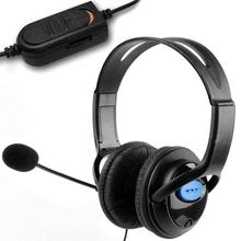 Gaming Headphone PS4 Wired Professional with Mic Volume-Control Chat for Laptop Deluxe