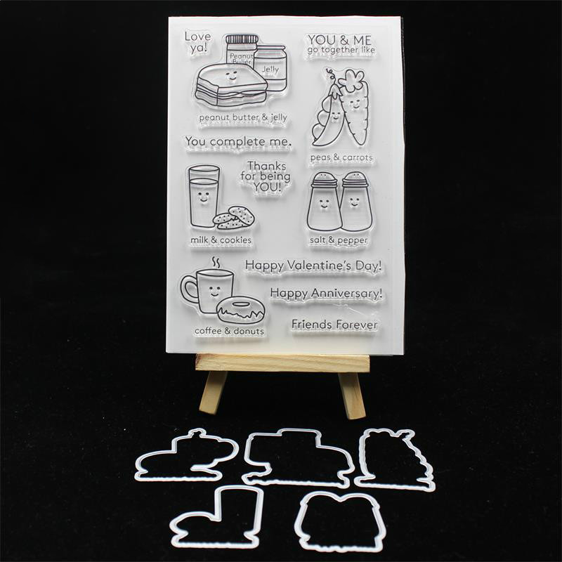 ZLDECOR New Transparent Clear Silicone Stamp And Cutting Dies Set for DIY scrapbooking/photo album Decorative pig silicone clear stamp metal cutting dies stencil frame scrapbook album decor clear stamps scrapbooking accessories