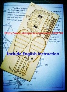 Image 3 - NIDALE modelo de velero de madera, modelo de barco real holandés 1678, modelo de madera, instrucciones en inglés