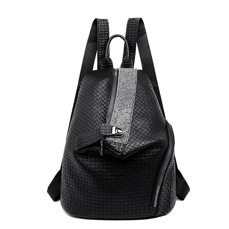 Fashion Soft Leather Diamond Backpack Large Capacity Anti-theft Designer Backbags Famous Brand Women Shoulder Travel Bags 2019