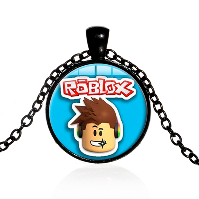 US $0 9 30% OFF|SONGDA Funny Candy Colors Roblox Game Children Necklace  Anime Cartoon 3D Game Figures Glass Gem Pendant Toy Choker Necklace Gift-in