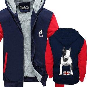 Image 4 - Abrigo de lana gruesa con capucha para hombre, abrigo de campera con capucha para invierno, talla europea, hecho en Inglaterra, Bully EBT, Inglés Bull Terrier