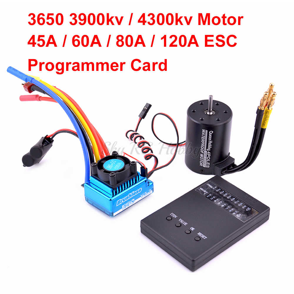 45A 60A 80A 120A Brushless ESC Electric Speed Controller ฝุ่น/3650 3900kv 4300kv Brushless Motor สำหรับ 1:10 1/10 RC รถ