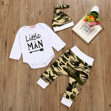 2017 Autumn baby boy clothing sets Newborn Baby Boy Girl letter Romper +Pants  +Hat 3pcs Baby girl Outfits Set Costume