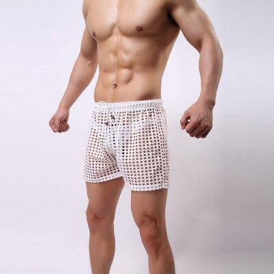 2016 новинка бренд мужской сексуальный ажурные забавный салон брюки пижамы / гей отношение прозрачная сна низ