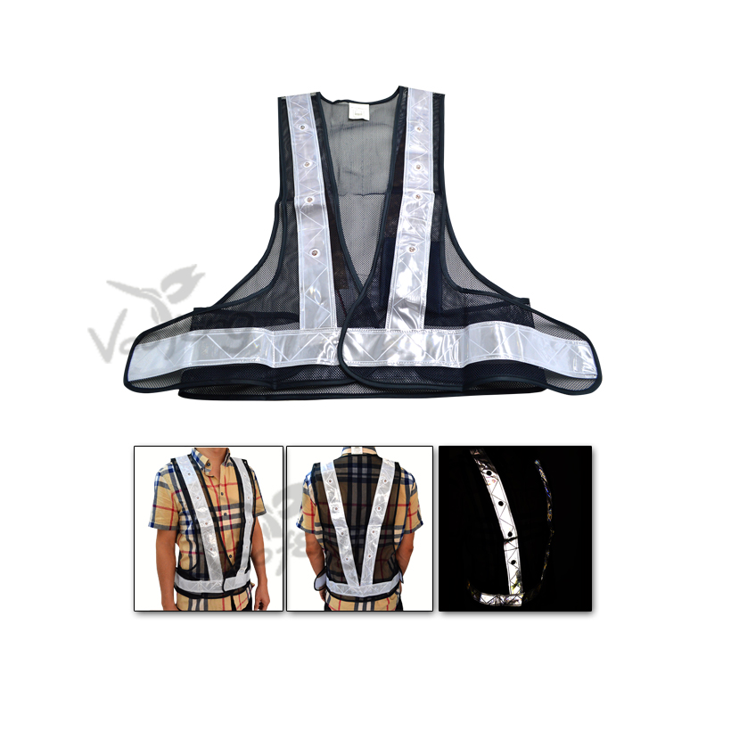 100% Polyester PVC Reflective Tape LED Safety Vest for Traffic Safety and Construction Site Free Shipping 2016 real top fashion safety construction reflective vest more than a single fluorescent green lattice safety vest zip pocket