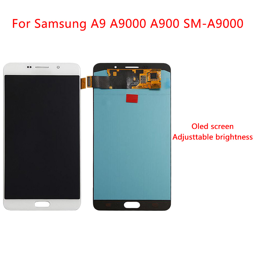 AMOLED Display For <font><b>Samsung</b></font> <font><b>Galaxy</b></font> <font><b>A9</b></font> <font><b>LCD</b></font> Display Touch <font><b>Screen</b></font> A900F A9000 Digitizer Assembly Replacement <font><b>Screen</b></font> 6.0