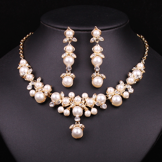 Hesiod Indian Wedding Jewelry Sets Gold Color Full Crystal: Aliexpress.com : Buy Trendy Indian Jewelry Set Wedding