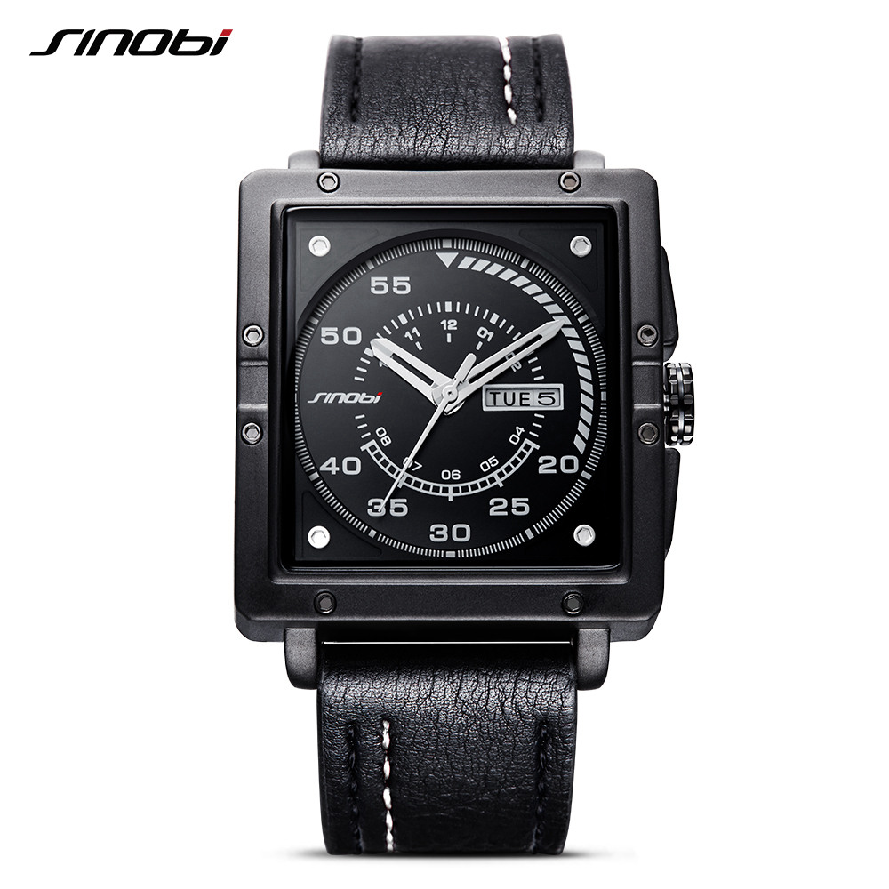 Men Black Watch Chronograph Casual Quartz Wrist Watches Top Luxury Brand Date Leather Strap Clock Male Sport Shock Fashion Gift 20167 new luxury brand women s quartz watch date day clock leather strap watch ladies fashion casual watch women wrist watches