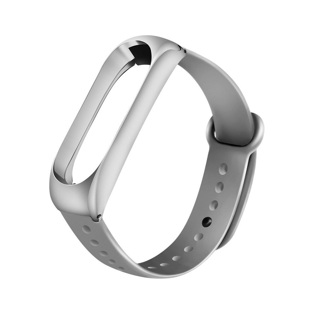 For Mi Band 3 Silcone Tainless Steel Wrist Strap MetalWatch Smart Bracelet Not For Xiaomi Miband 4 Belt Replaceable Watch Strap
