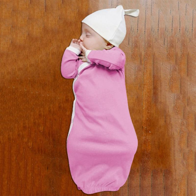 ead8d563d5e6 1Set Newborn Baby Sleep Gowns Solid Color Long Sleeve Toddler Sleeper Gowns  Pajamas Clothes Baby Boy Girl Sleeping Kids Robe-in Robes from Mother & Kids  on ...