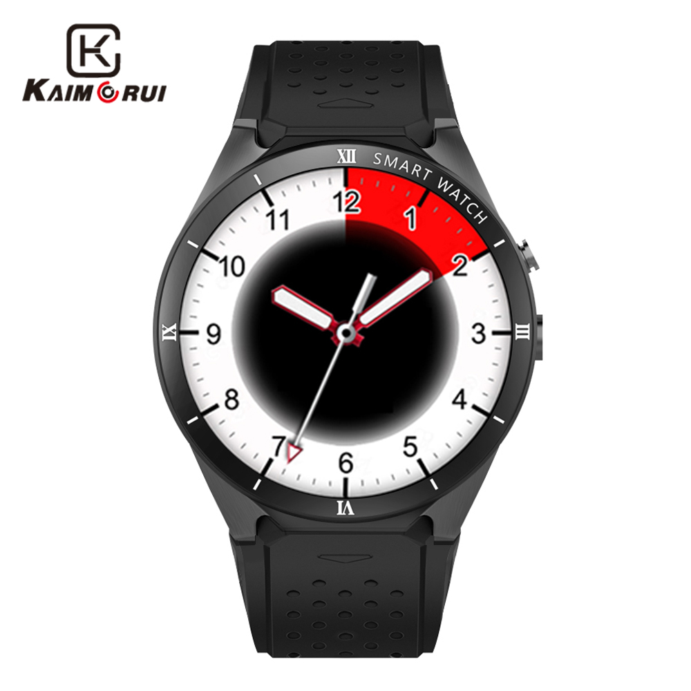 Kaimorui Smart Watch Android 7.0 OS 3G Smartwatch Men 1GB+16GB SIM Card WIFI GPS Bluetooth Watch Smart Phone for Android and IOS kaimorui android smart watch bluetooth men watch 512mb 8gb smartwatch sim card gps wifi for android ios watch phone