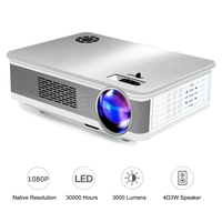 Unlimitv 1920*1080p LED Mini Full HD Projector 150 Large Screen 3500 Brightness Movie video home theater projector Support 4K 2K