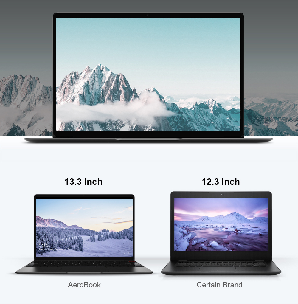 CHUWI AeroBook 13.3 Inch 1920*1080 IPS Screen Ultra Notebook Intel Core M3 6Y30 Windows 10 8GB RAM 256GB SSD Laptop
