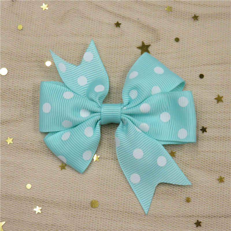 1 Uds. Punto Boutique grogrén cinta chica lazo elástico lazo para el cabello lazos de cinta DIY accesorios para el cabello mejor regalo de vacaciones 2018