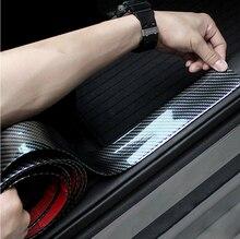 פחמן סיבי גומי רכב סטיילינג דלת אדן מגן עבור הונדה סיוויק אקורד CRV Fit רנו פיג ו 307 206 407 308 406 סיטרואן