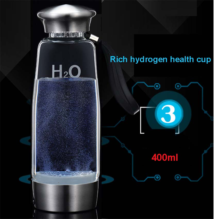 FQB-3012 The Third Generation of Hydrogen Water And Coffee Generators Ionizers with 650 mAh internal lithium battery 400mL bride of the water god v 3