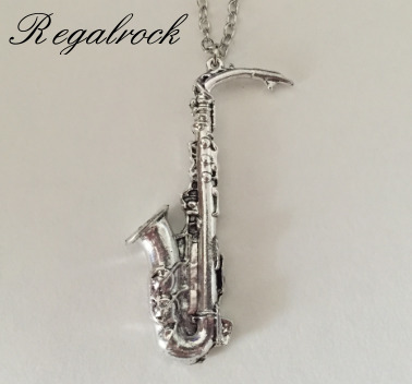 Regalrock Sachs Musical Instruments Saxophone Pendant Necklace