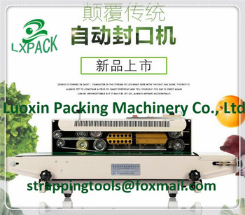 LX-PACK Automatic continuous Band Sealer Heat plastic bag gas Sealer sealing machine suitable for plastic bag and aluminum bag