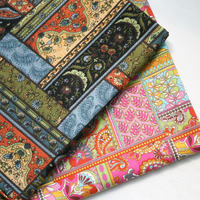 New 2Colors Vintage Quilt Designer Cotton Fabric For Patchwork Bedding Quilting Fabric Sewing Tissue Cloth Only