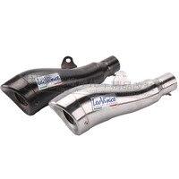 Universal LEOVINCE Motorcycle Exhaust Carbon Fiber Pipe Muffler for TTRYZF RSZ CBR CB400 CF250 CBR600 CBR250 ER6N ER6R YZF600
