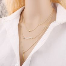 Lollipop multilayer pearl necklace necklace ornaments new European and American accessories wholesale(China)