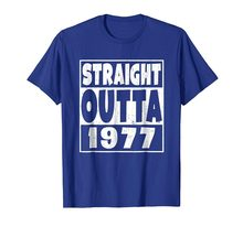 Straight Outta 1977 T Shirt 41st Birthday Gift 41 Years Old Mens Summer O Neck Cotton