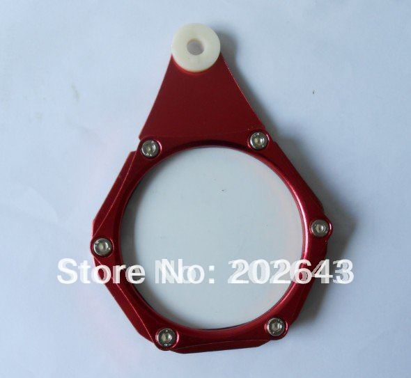 GV TH020 motorcycle tax disc holder with aluminum , red