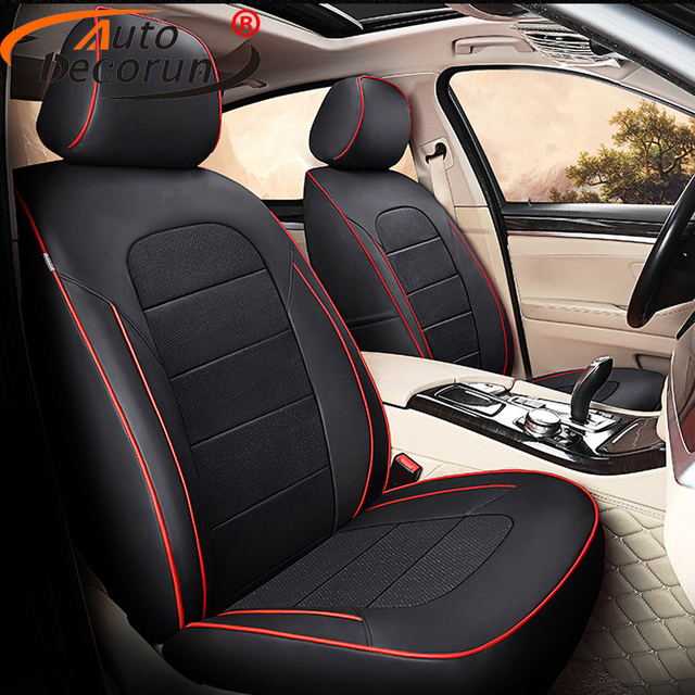 AutoDecorun Perforated Cowhide Seat Cover For TOYOTA SIENNA LE XLE Covers Genuine Leather 7