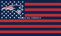 New England Patriots US flag with star and stripe 3x5 FT Banner Polyester NFL flag 2
