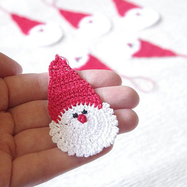 online shop of 12 crochet santa claus christmas decorations hanging