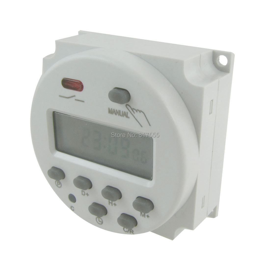 DC 12V Digital LCD Power Programmable Timer Time Switch Relay 10A Amps hhs6a correct time countdown intelligence number show time relay bring power failure memory ac220v